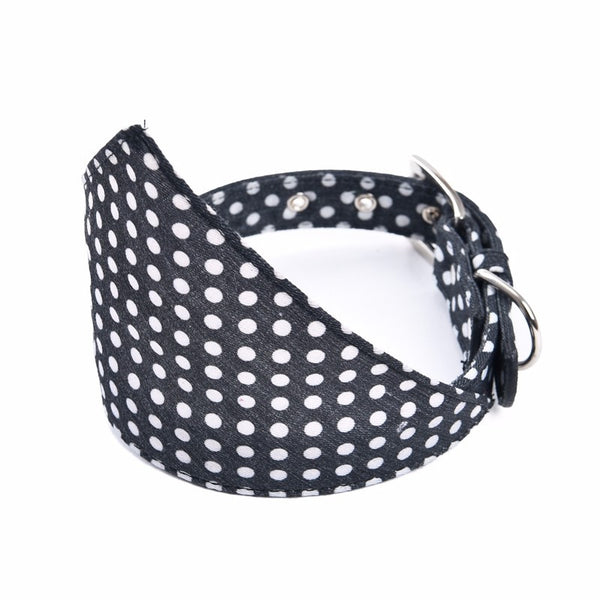 Polka Dot Bandana Collar Neckerchief - Black - Haute Dog Shop