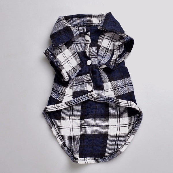 Alfred Plaid Button-Up Shirt - Black - Haute Dog Shop