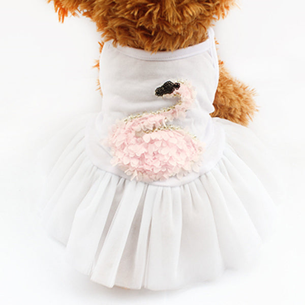 Chelsea Ballerina Dress - White - Haute Dog Shop