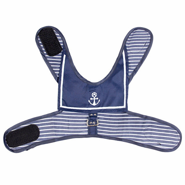 Navy Sailor Dog Harness - Haute Dog Shop
