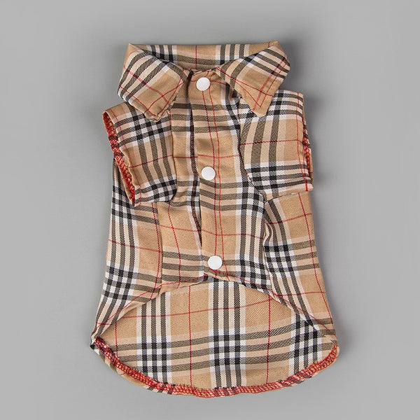 Alfred Plaid Button-Up Shirt - Khaki - Haute Dog Shop