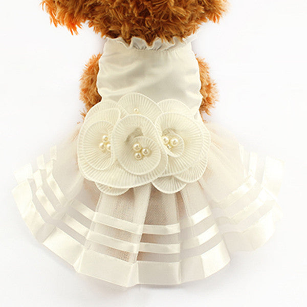 Isabella Wedding Dog Dress - Haute Dog Shop