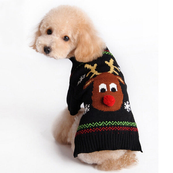 Rudolph Christmas Sweater - Haute Dog Shop