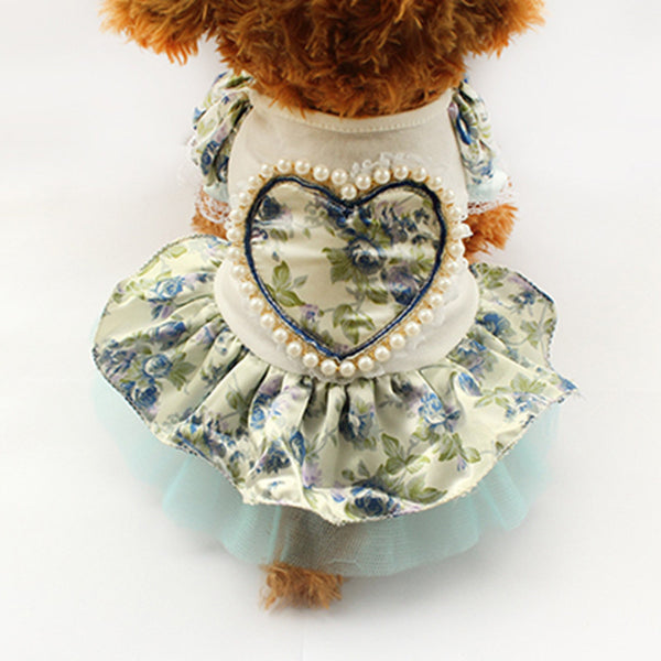 Daisy Picnic Dress - Blue - Haute Dog Shop