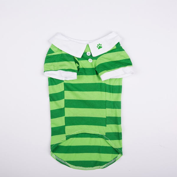 Joey Pull-Over Striped Polo Shirt - Green - Haute Dog Shop