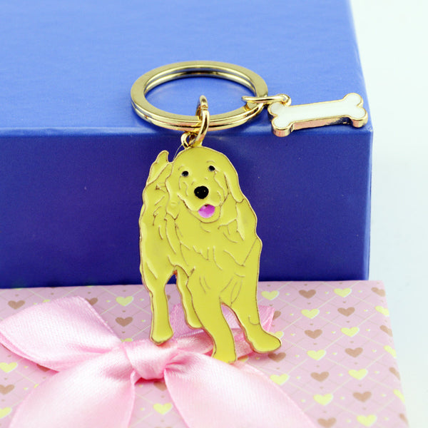 Golden Lab Key Chain - Haute Dog Shop