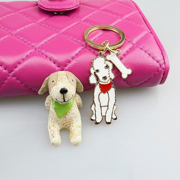 Poodle key Chain - Haute Dog Shop