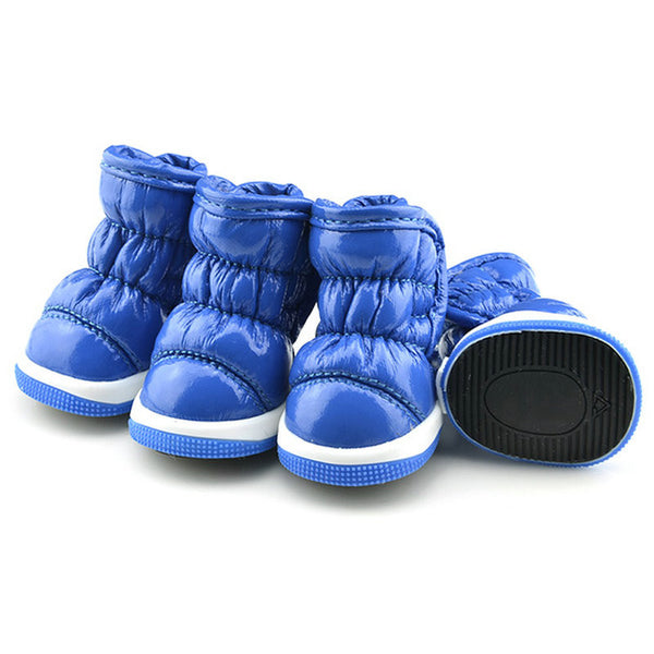 Let it Snow Doggy Booties - Blue - Haute Dog Shop