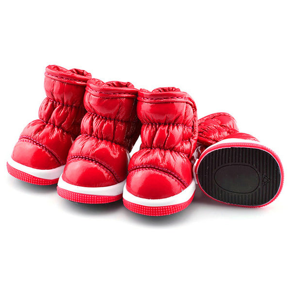 Let it Snow Doggy Booties - Red - Haute Dog Shop
