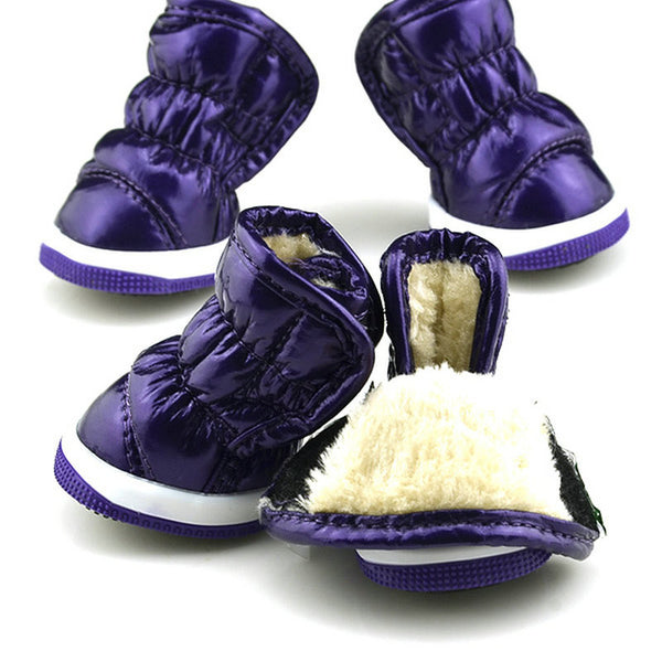 Let it Snow Doggy Booties - Purple - Haute Dog Shop