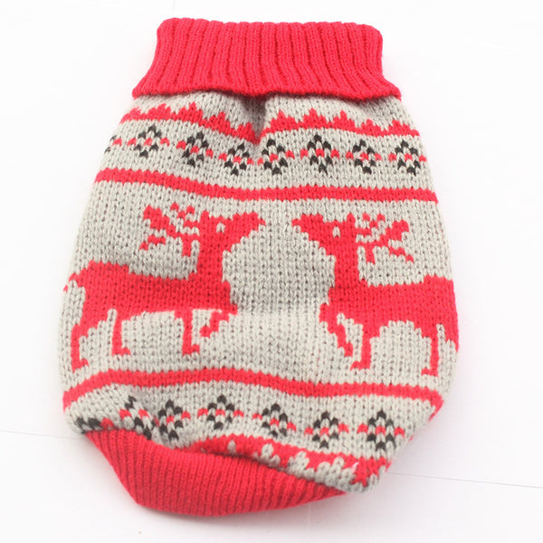 Charlie Reindeer Sweater - Red - Haute Dog Shop
