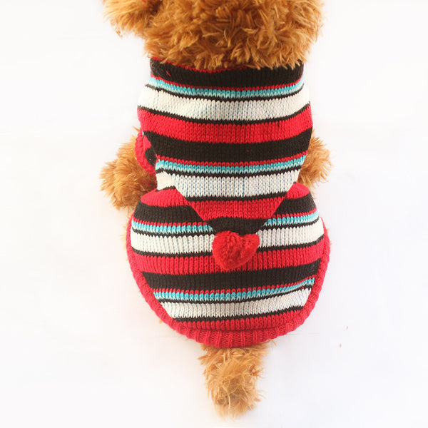 Sparky Hoodie Sweater - Red - Haute Dog Shop