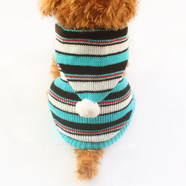 Sparky Hoodie Sweater - Blue - Haute Dog Shop