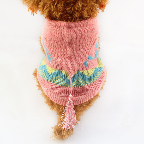Bailey Hooded Sweater - Pink - Haute Dog Shop
