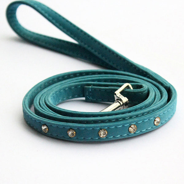 Forest Green Rhinestone Leash - Haute Dog Shop