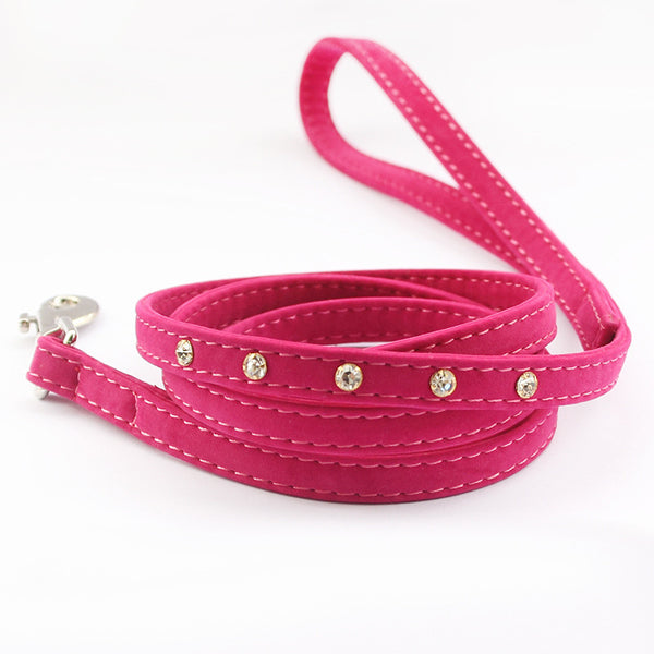 Hot Pink Rhinestone Leash - Haute Dog Shop