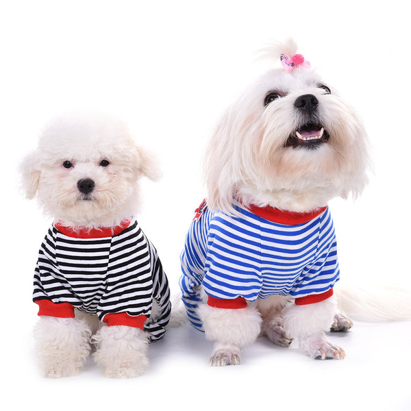 Stripey Dreams Pajamas - Blue - Haute Dog Shop