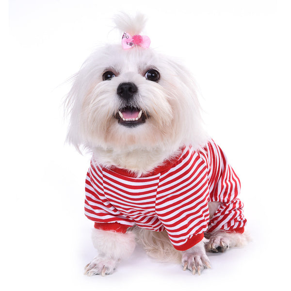 Stripey Dreams Pajamas - Red - Haute Dog Shop