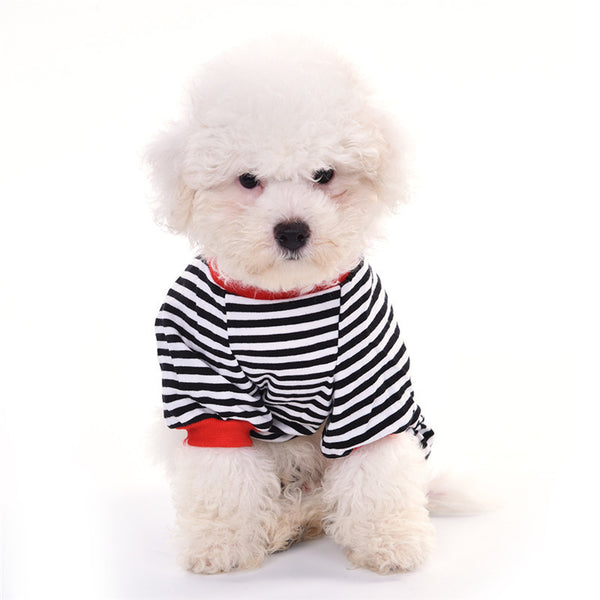 Stripey Dreams Pajamas - Black - Haute Dog Shop