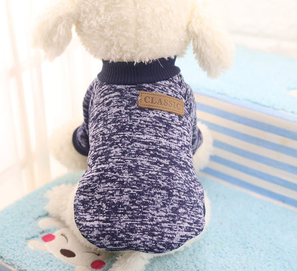 Cooper Classic Sweater - Navy Blue - Haute Dog Shop