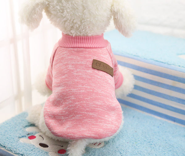 Cooper Classic Sweater - Baby Pink - Haute Dog Shop