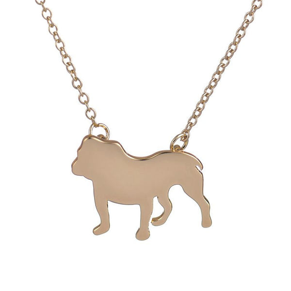 English Bulldog Pendant Necklace - Haute Dog Shop