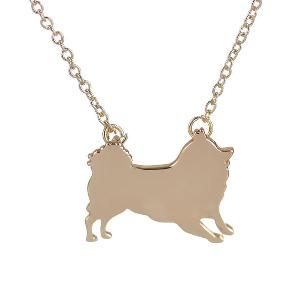 Pomeranian Pendant Necklace - Haute Dog Shop