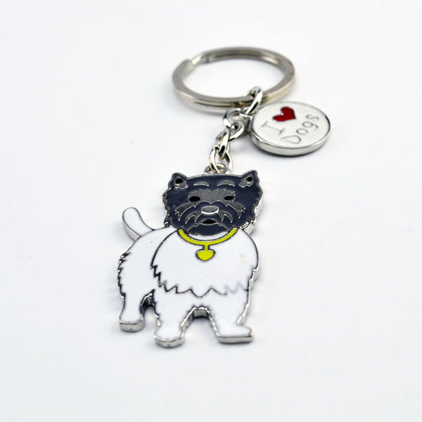 Highland White Terrier Keychain - Haute Dog Shop