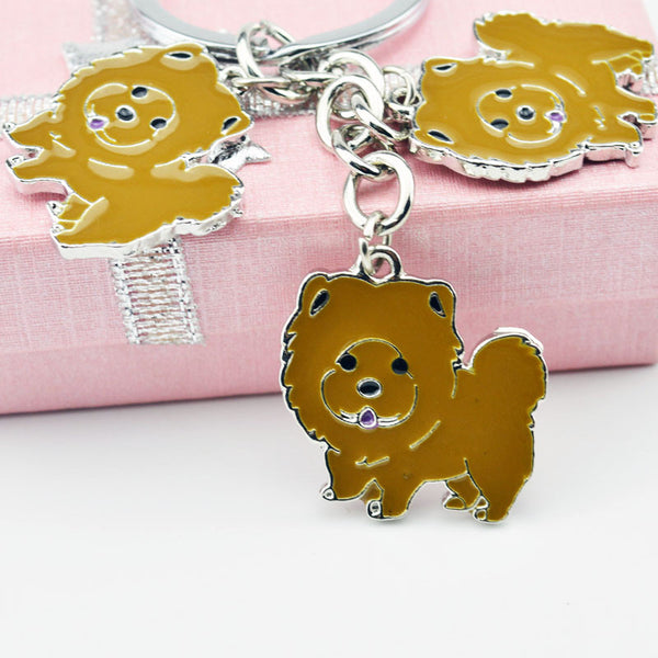Chow Chow Trio Key Chain - Tan - Haute Dog Shop