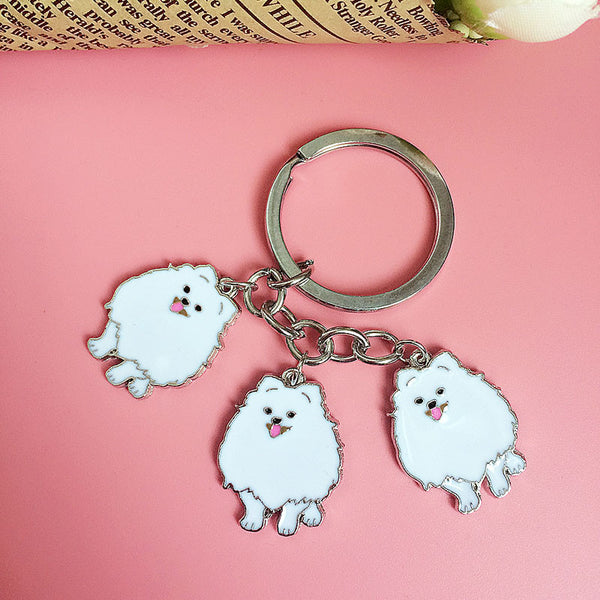 Pomeranian Trio Key Chain - Haute Dog Shop
