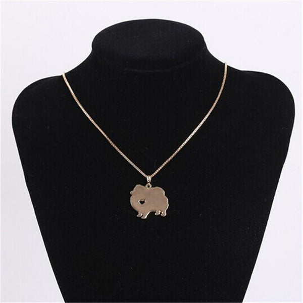Pomeranian Love Necklace - Haute Dog Shop