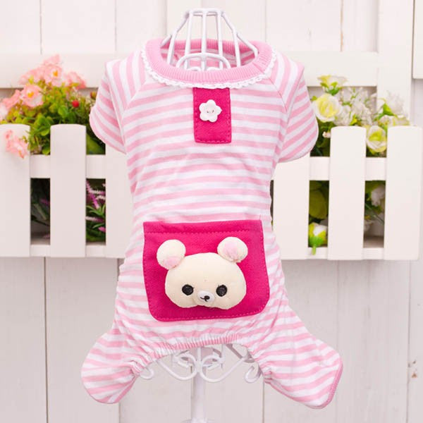 Mr.Bear Pajamas - Pink - Haute Dog Shop