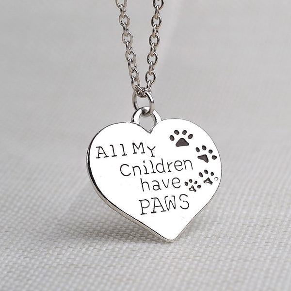All My Children Have Paws Necklace - Haute Dog Shop