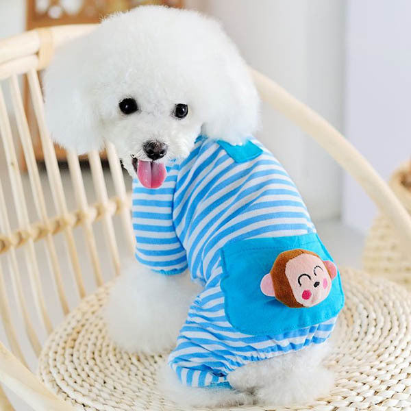 Mr.Monkey Pajamas - Blue - Haute Dog Shop