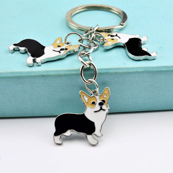 Corgi Trio Key Chain - Haute Dog Shop