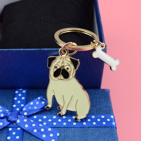 Pug Keychain - Haute Dog Shop