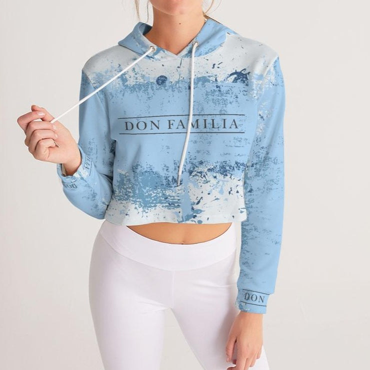 DON FAMILIA LIFESTYLE Women's Cropped Hoodie