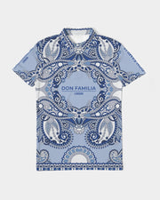 DON FAMILIA BLUE LONDON Men's Slim Fit Short Sleeve Polo