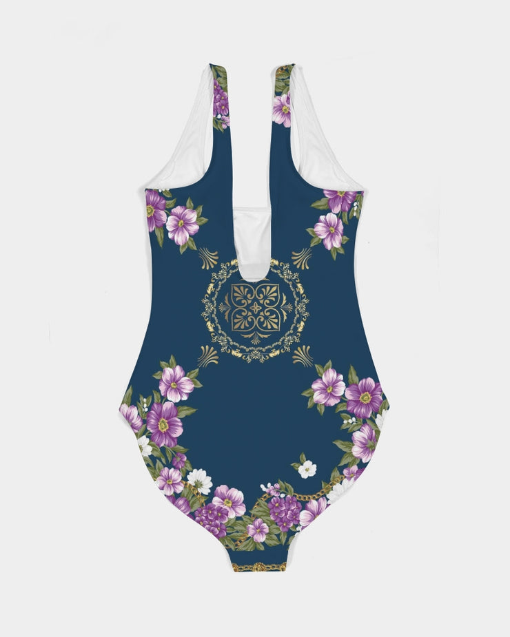 DON FAMILIA PURPLE Women's One-Piece Swimsuit