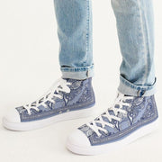 DON FAMILIA BLUE LONDON Men's Hightop Canvas Shoe