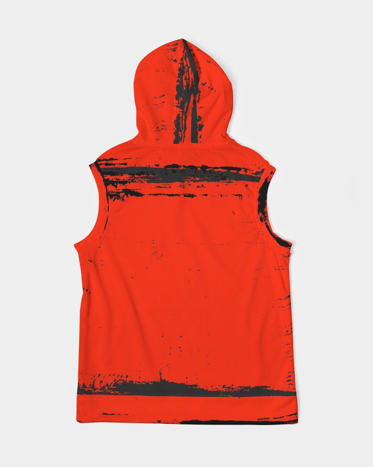DON FAMILIA RED Men's Premium Heavyweight Sleeveless Hoodie