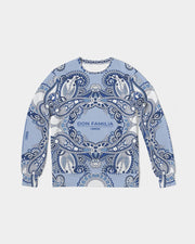 DON FAMILIA BLUE LONDON Men's Classic French Terry Crewneck Pullover