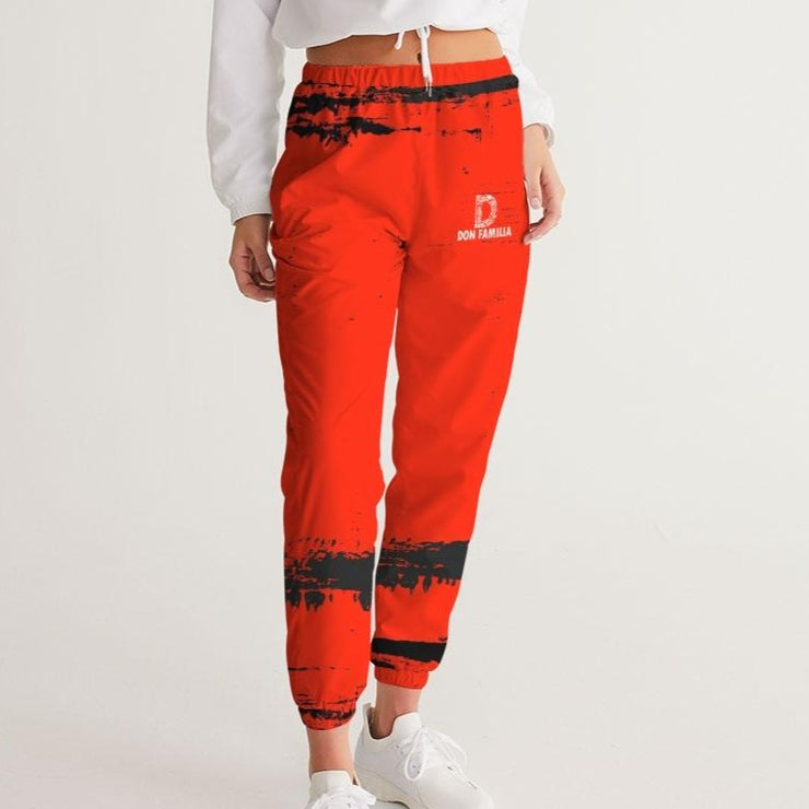 DON FAMILIA RED Women's Track Pants