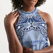 DON FAMILIA BLUE LONDON Women's Halter Dress