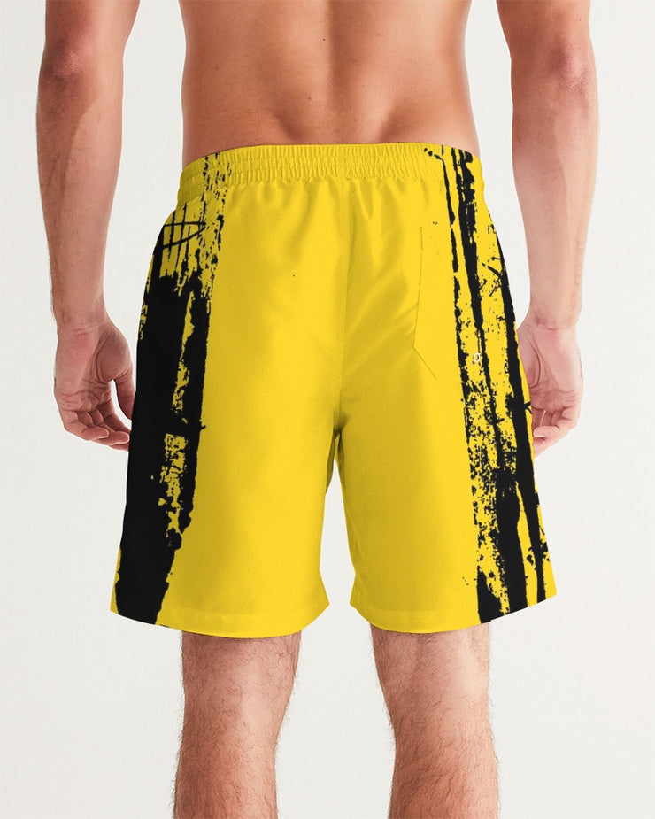 DON FAMILIA YELLOW Men's Swim Trunk