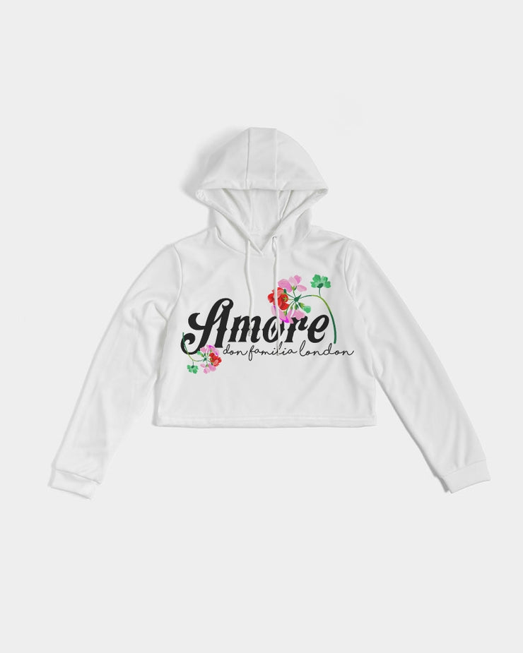 AMORE DON FAMILIA Women's Cropped Hoodie