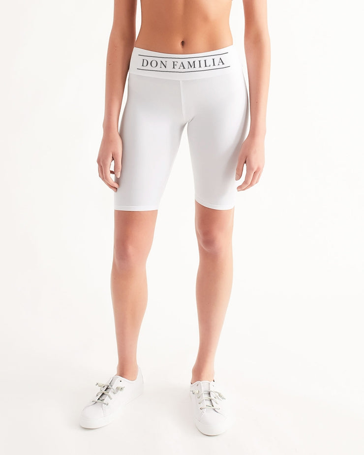 DON FAMILIA Women's Mid-Rise Bike Shorts