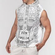 DON FAMILIA Men's Premium Heavyweight Sleeveless Hoodie