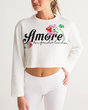 AMORE DON FAMILIA Women's Cropped Sweatshirt
