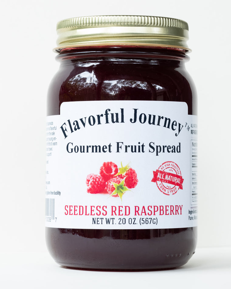 Flavorful Journey Seedless Red Raspberry Gourmet Fruit Spread